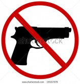 crossed out gun