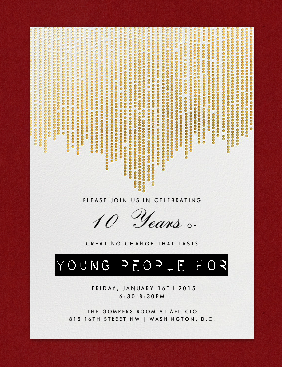 YP4 Reception Invitation
