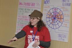 2007 Alumna Jess Klein trains on self-care