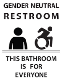 Gender Inclusive Bathroom sign (provided by uaa.org)